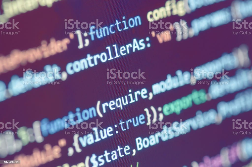 Programming Code On Computer Screen royalty-free stock photo