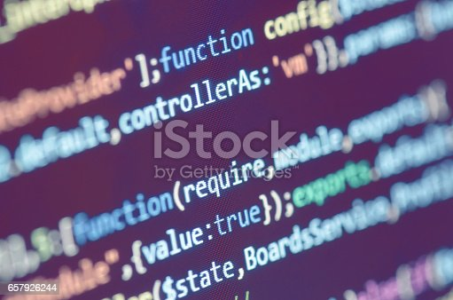 istock Programming Code On Computer Screen 657926244