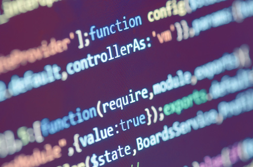Programming Code On Computer Screen Stock Photo - Download Image Now