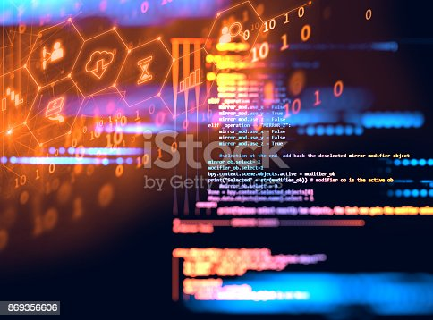 istock Programming code technology background of software developer and  Computer script 869356606