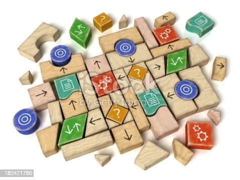 istock Programming Flowchart Building Blocks 182421780