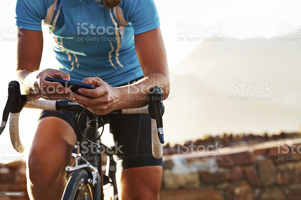 Programming her route stock photo