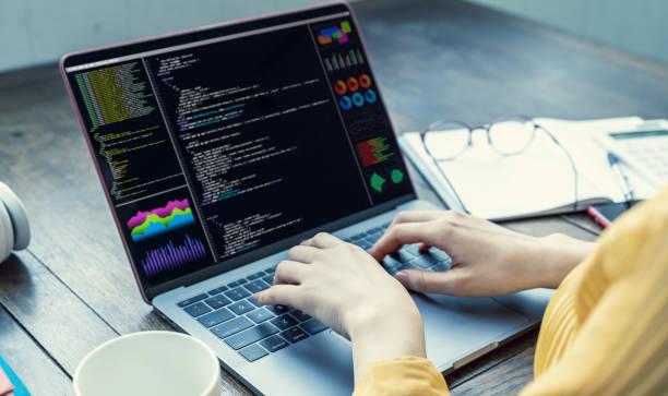 programmiersprachkonzept. systemtechnik. softwareentwicklung. - html stock-fotos und bilder