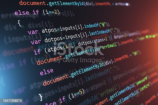 istock Programming source code abstract background 1047259374