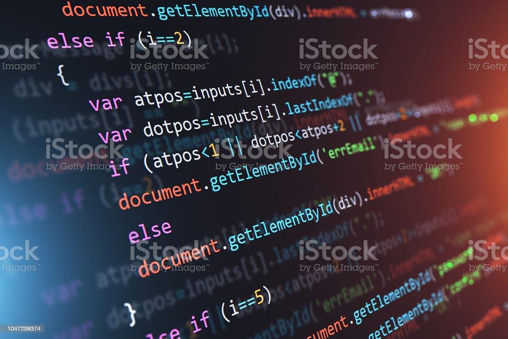 Programmierung-Source Code abstrakten Hintergrund – Foto