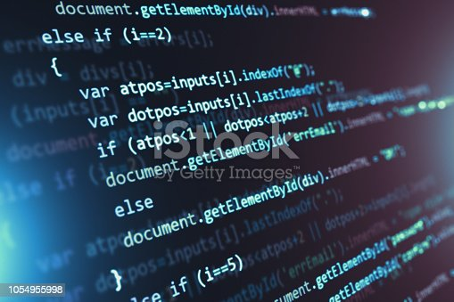 istock Programming source code abstract background 1054955998