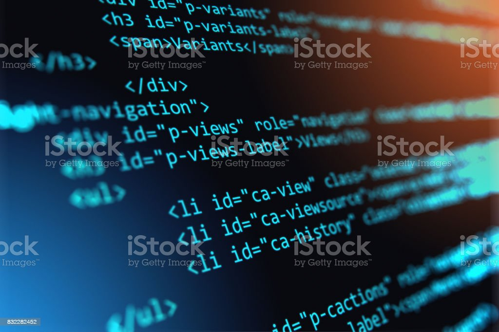 Programming source code abstract background royalty-free stock photo