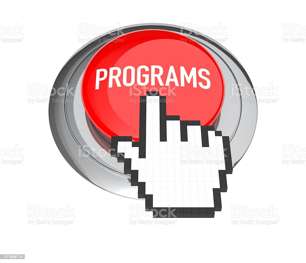 Programs Button royalty-free stock photo