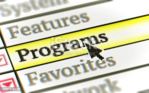 istock Programs 1097416778