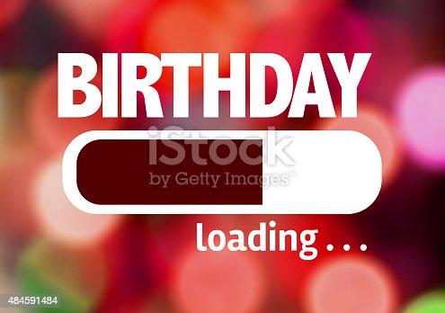 istock Progress Bar Loading with the text: Birthday 484591484