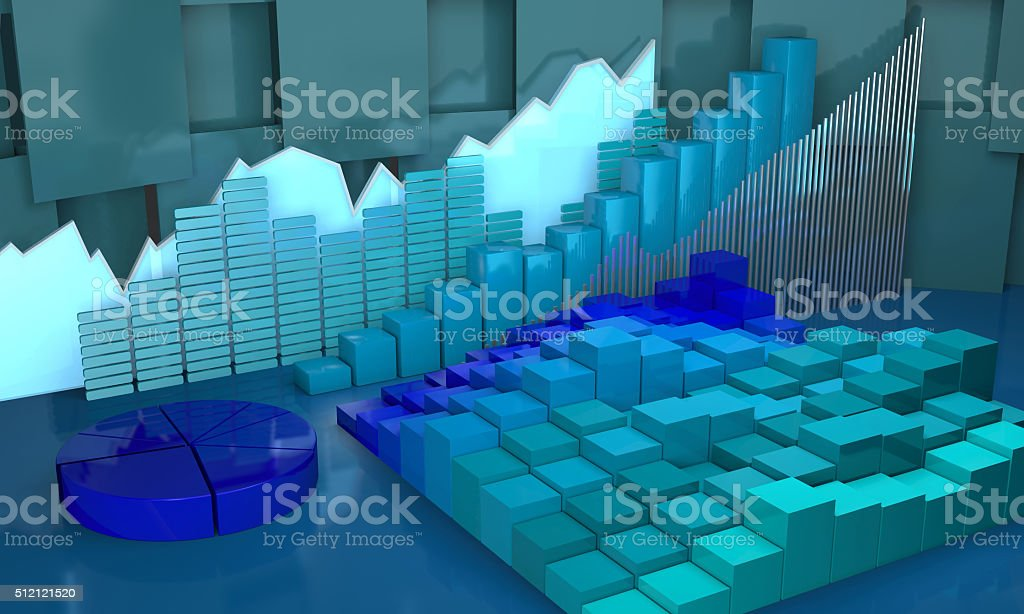Progress in business abstract background. stock photo