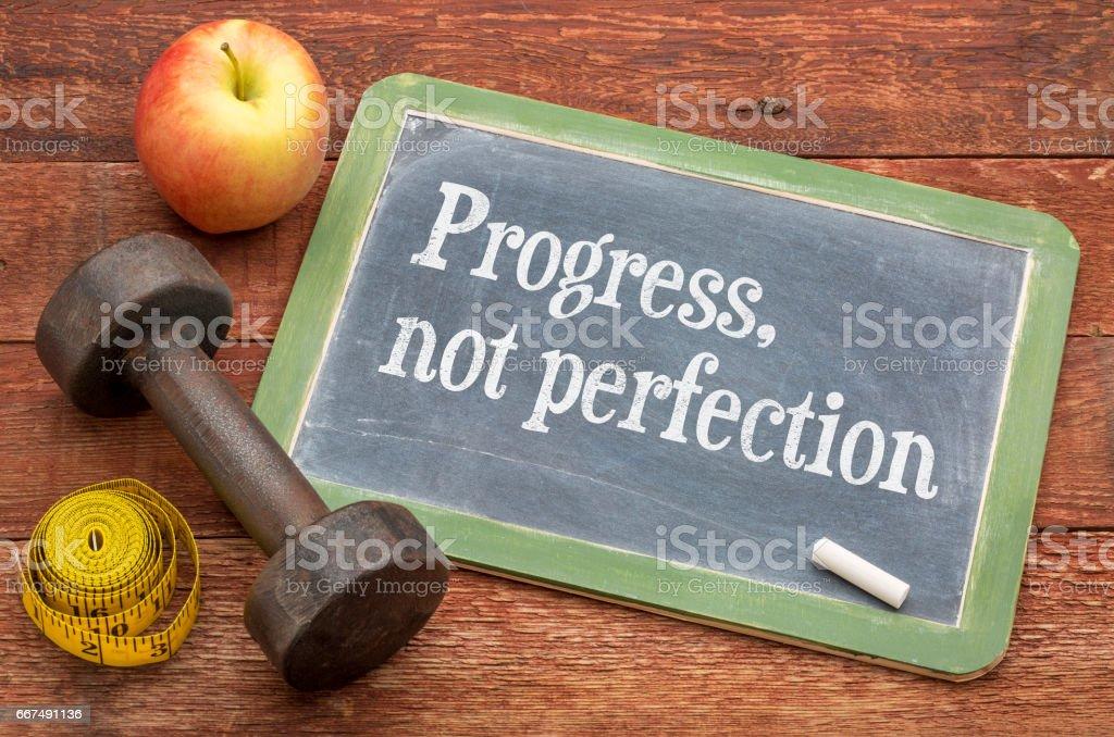 Progress, not perfection stock photo