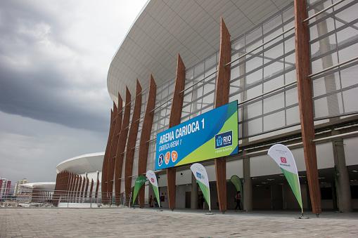 Progress of construction of the Rio 2016 Olympic Park