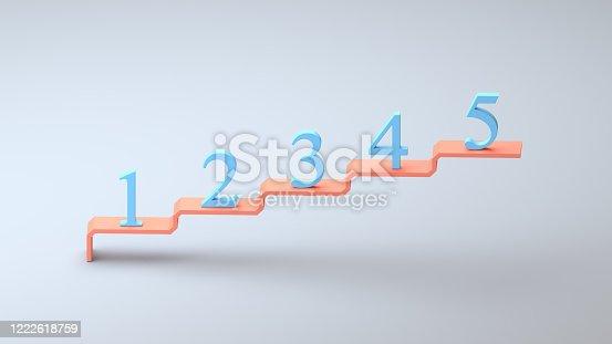 Business questions ideas and creativity 1 2 3 4 5 isometric concept