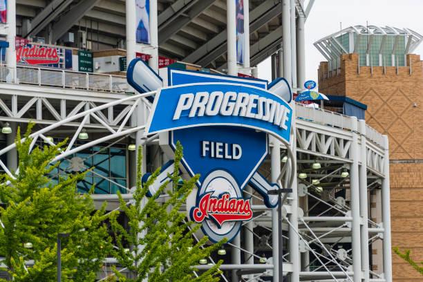 Progressive Field, Cleveland, Ohio stock photo