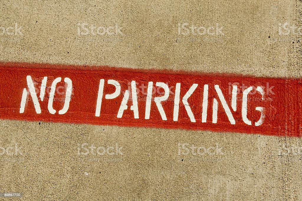 Prohibited Parking Three royalty-free stock photo