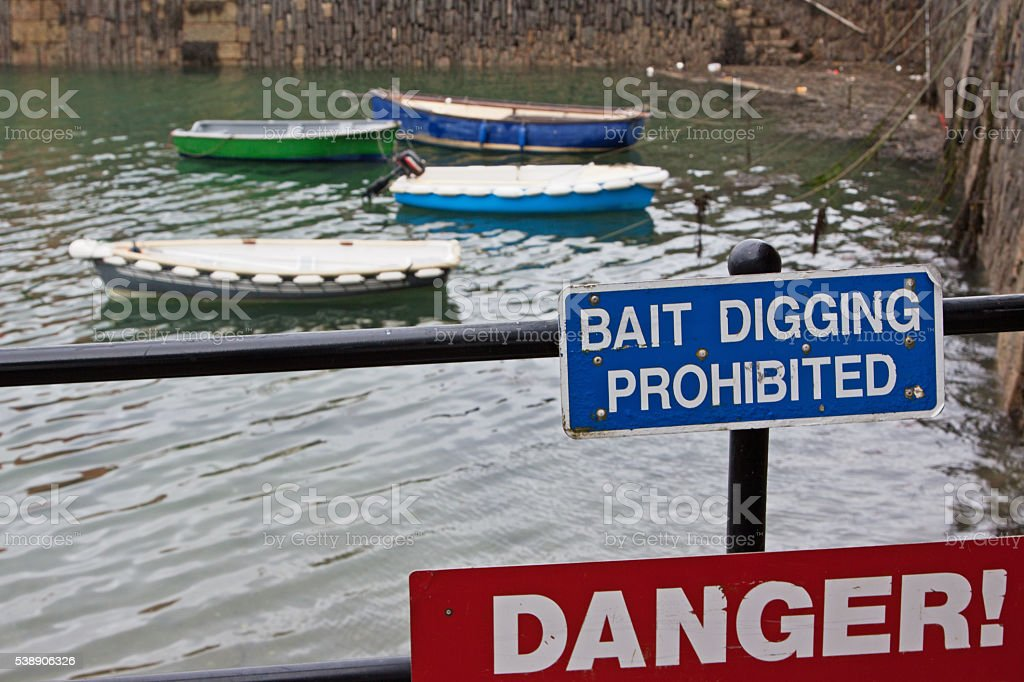 Prohibition and Danger signage stock photo