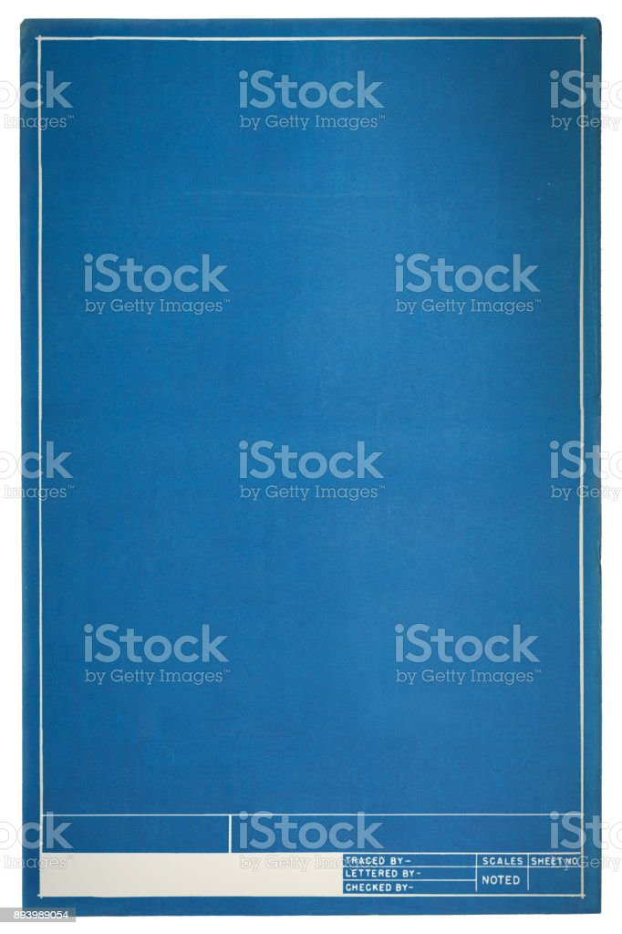 Project Blueprints stock photo