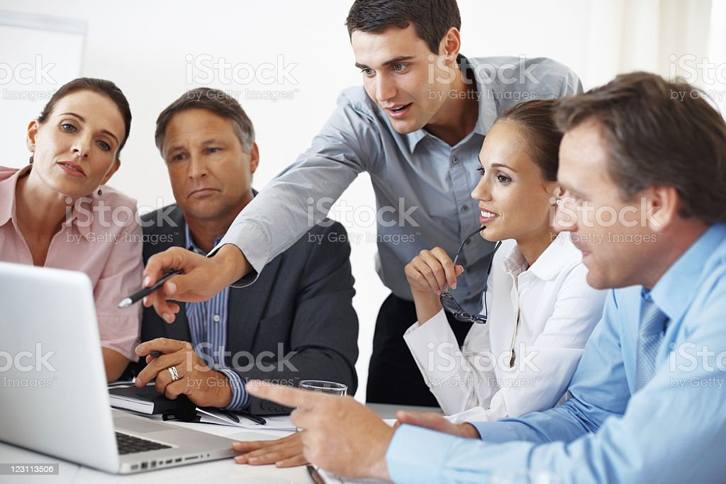 Project discussion royalty-free stock photo