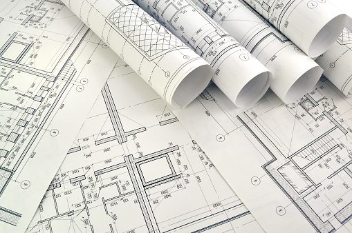 architecture plans stock photos