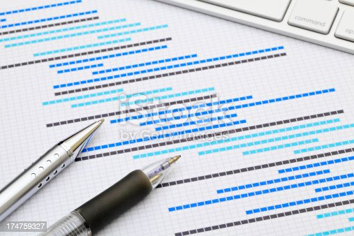 Project Estimation with Pens and keyboard