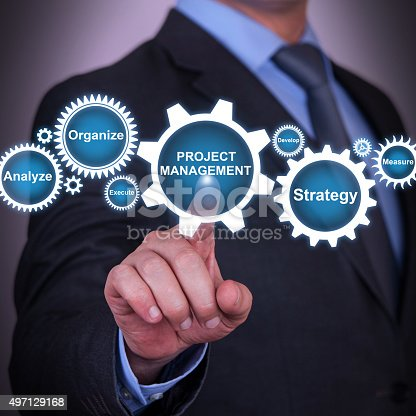 1024730528 istock photo Project Management and Gear Concept on Touch Screen 497129168
