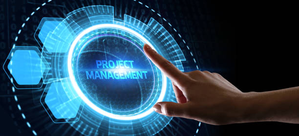 Project management concept. Business, Technology, Internet and network concept. stock photo