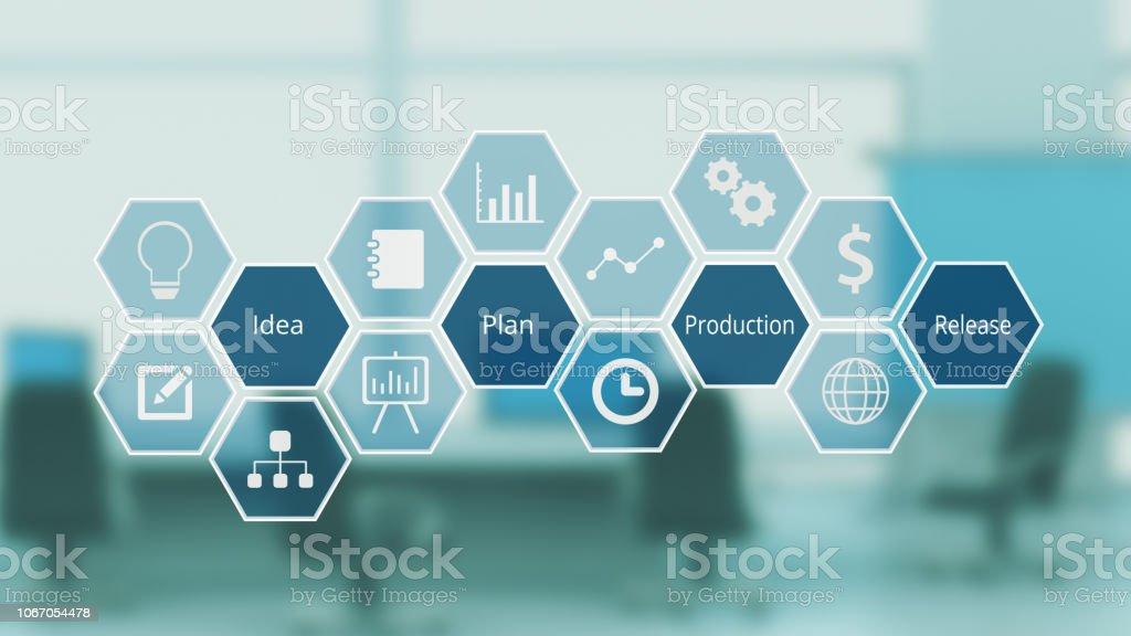project management concept stock photo