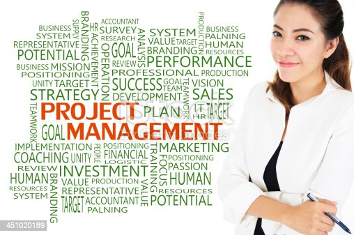 How to reach achievement of project management for business concept