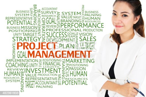 Businesswoman with project management concept