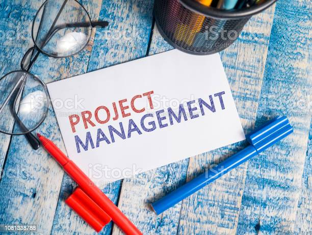 Project Management Motivational Words Quotes Concept Stock Photo - Download Image Now
