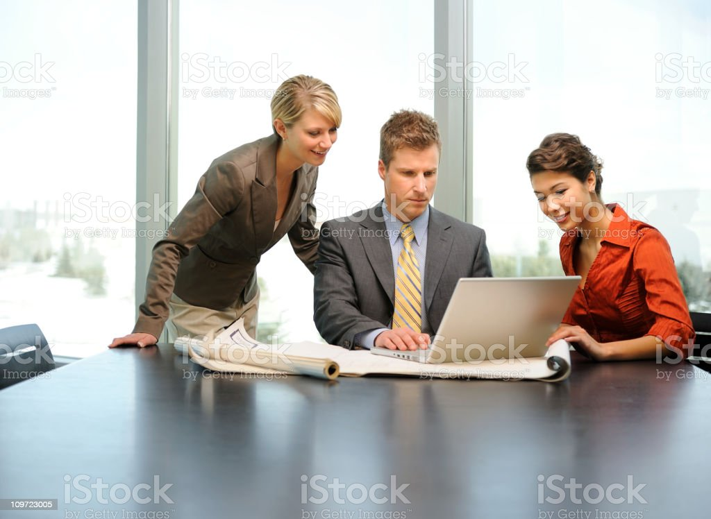 Project Management Team Meeting royalty-free stock photo