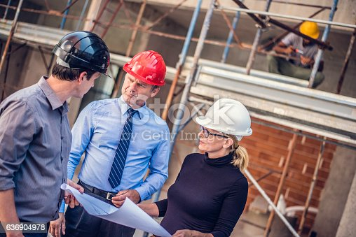 istock Project manager on a construction site 636904978