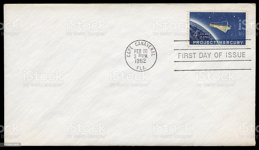 Project Mercury Blank Envelope stock photo