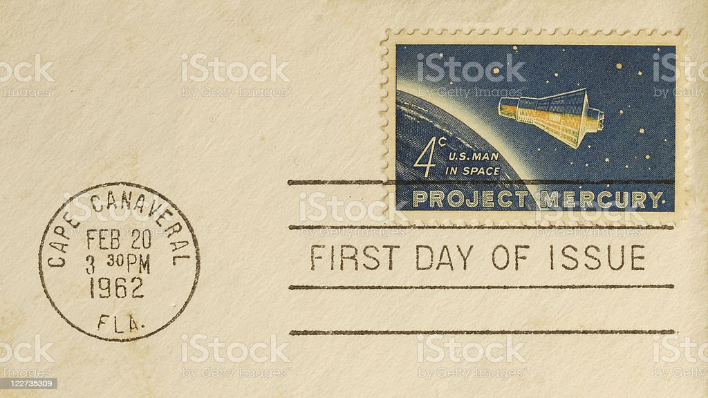 Project Mercury First Day Cover stock photo