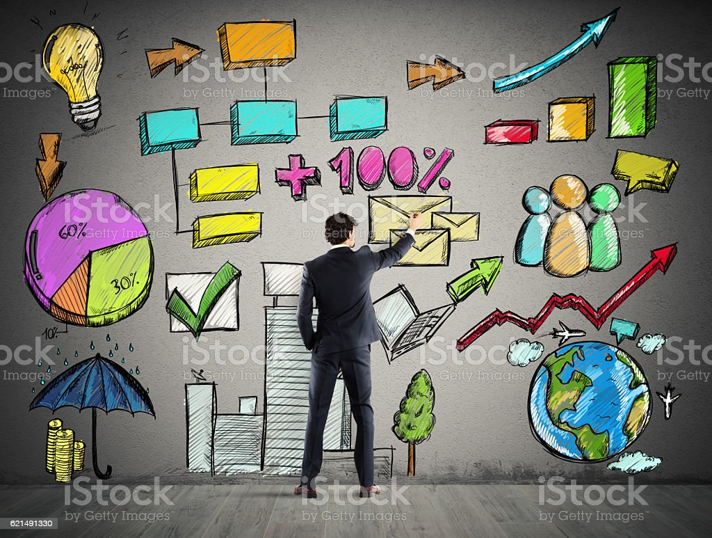 Project of business analysis foto stock royalty-free