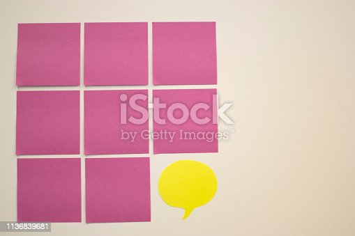 istock Project Planning, Sticky note, agile methodology, scrum, kanban 1136839681