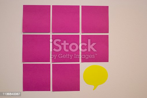 istock Project Planning, Sticky note, agile methodology, scrum, kanban 1136840067