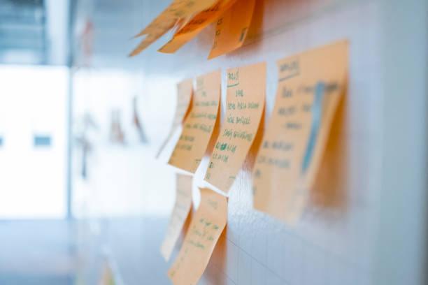 Projektplanung, Sticky Notes, Agile – Foto
