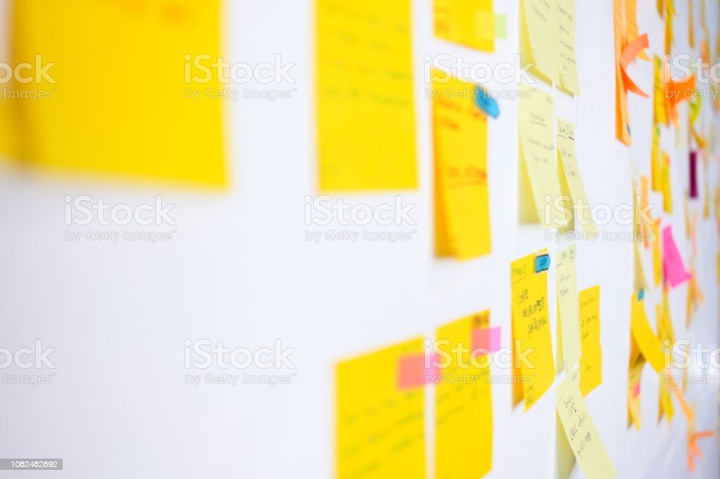 Project Planning, Sticky Notes stock photo