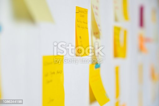 istock Project Planning, Sticky Notes 1086344198