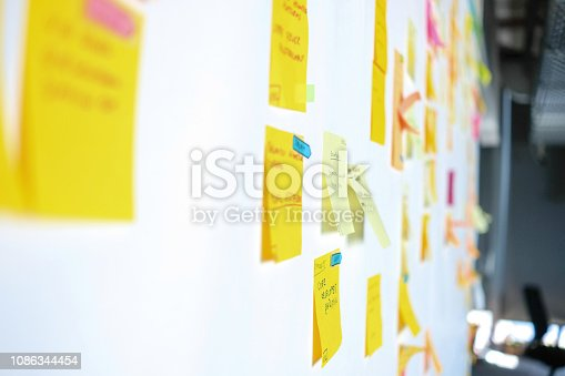 istock Project Planning, Sticky Notes 1086344454