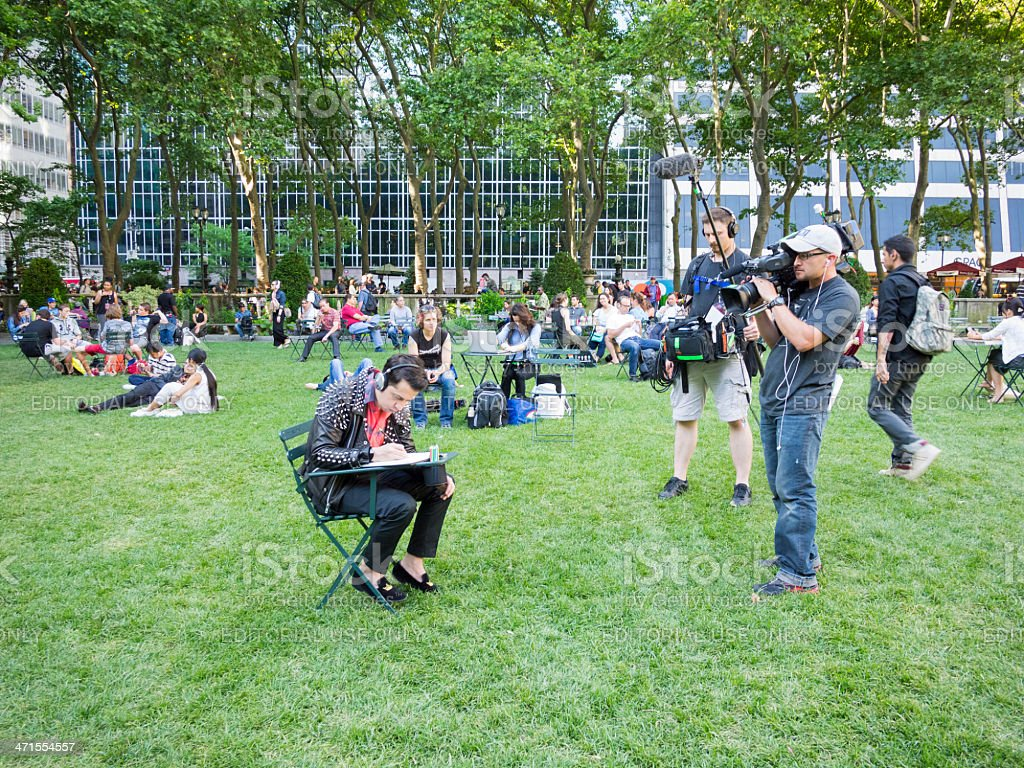 Project Runway Allstars Reality Shoot Bryant Park Manhattan stock photo