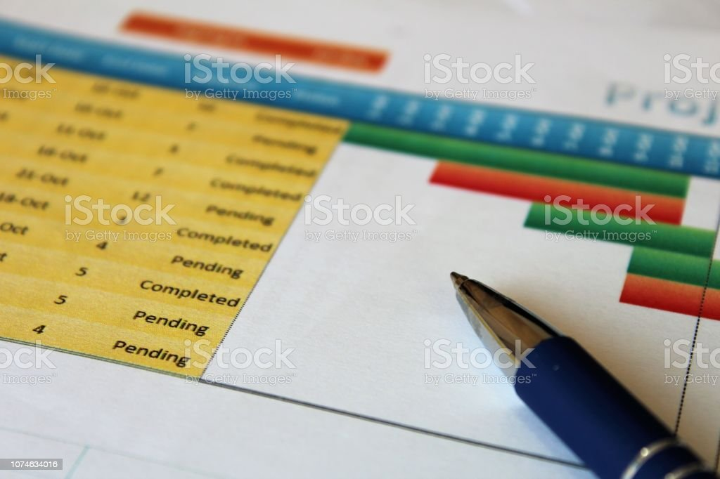 Project tasks. stock photo