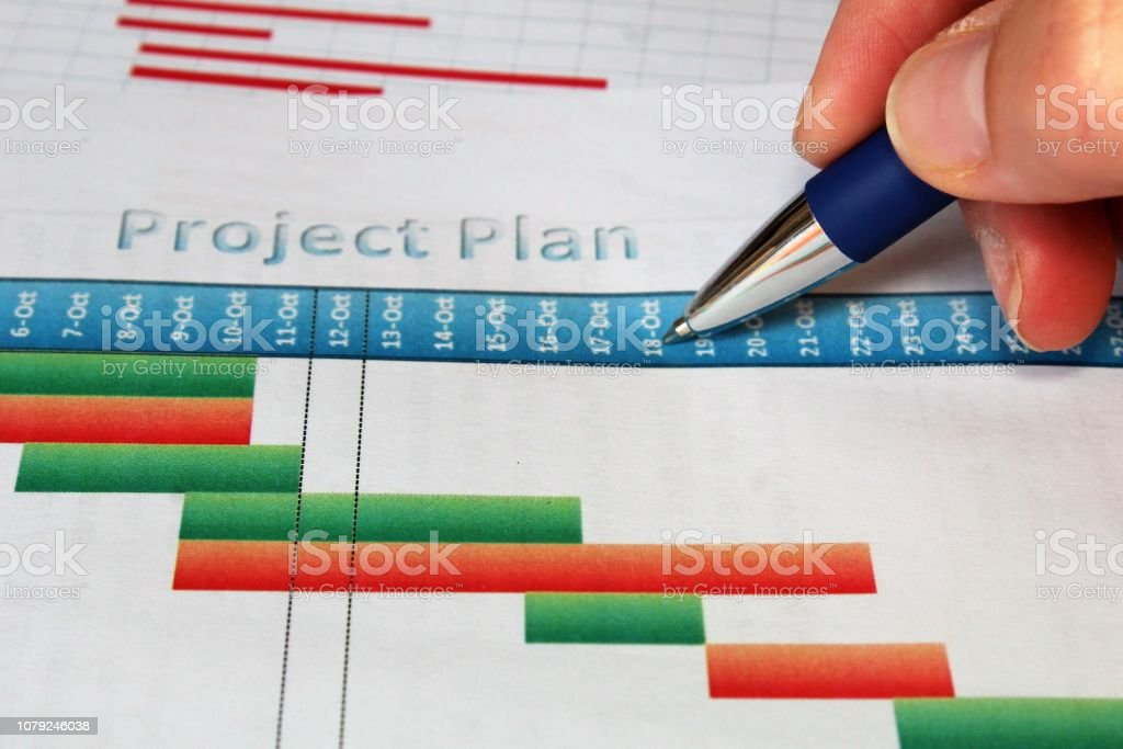 Project timeline. stock photo