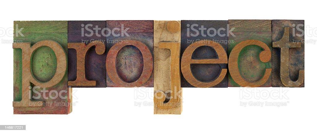 project - vintage letterpress type blocks royalty-free stock photo