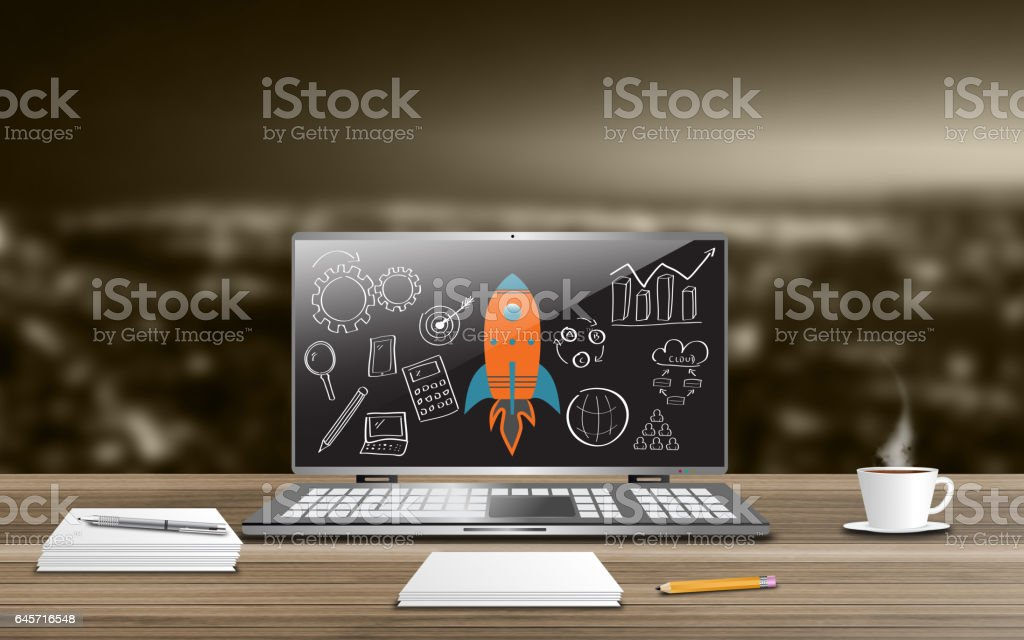 Project vision concept stock photo