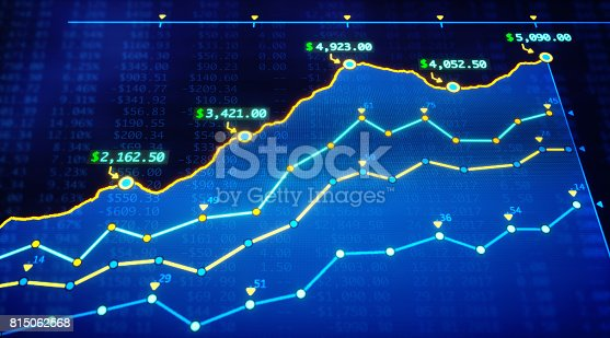 istock Projected Income Growth Report With Spreadsheet 815062568