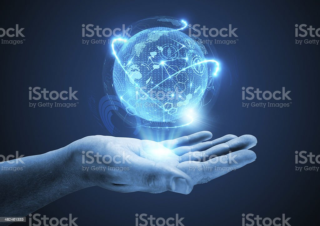 Projecting The Future stock photo