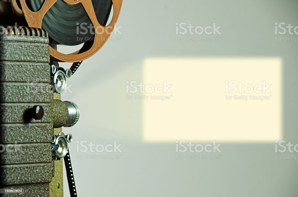 Projector and Screen stock photo